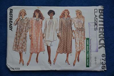 45478654f4b BUTTERICK  6736 FAST EASY Sew PATTERN Maternity DRESS-SKIRT-TOP Size 6