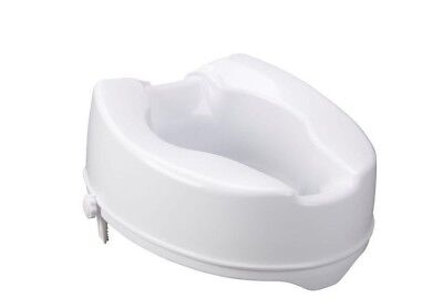 """Raised Toilet Seat without lid 10cm rise 4"""" Portable Home Aid 135kg NEW in box"""