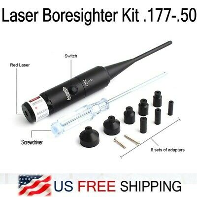 Red Laser Boresighter Sight Collimator Kit For .177-.50 Caliber Bore Sighter New