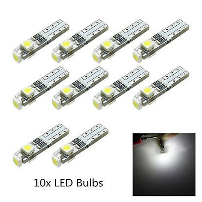 10pc White T5 Neo Wedge SMD LED Light Instrument Cluster Panel Lamps Gauge Bulbs
