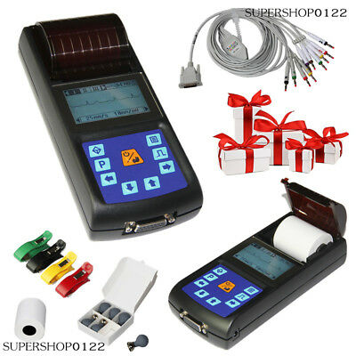 portable Digital 1 channel 12-lead ECG EKG machine Electrocardiograph software