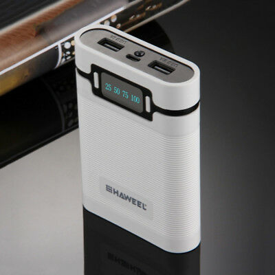2 in 1 Power Bank Charger Case Box for 18650 Rechargeable Battery White LD1813