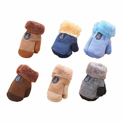 Winter Comfortable Thicken Velvet Infant Baby Girls Boys Keep Warm Gloves FQ