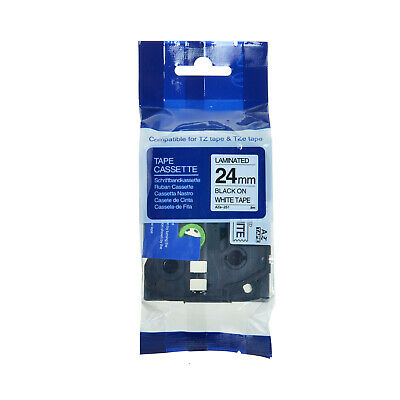 Compatible Brother TZ-251 TZe-251 TZe251 P-Touch Black On White Label Tape 24mm