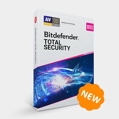 Bitdefender Total Security Multi-Device 2019 / 2020 - 5 Devices 1 Year