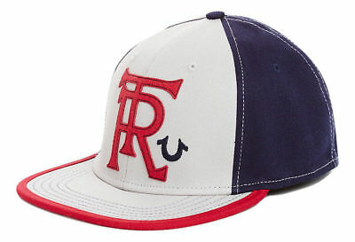 True Religion Men's Hammer Logo Baseball Stretch Fitted Hat Cap (One Size)