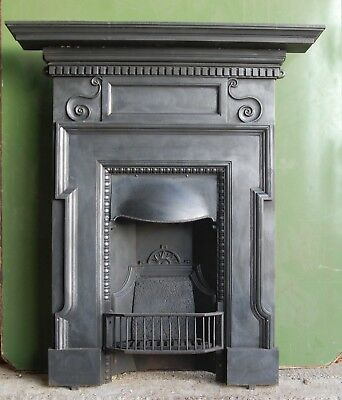 AN ATTRACTIVE ANTIQUE CAST IRON COMBINATION FIRE C.1900 APPROX Ref FC0042