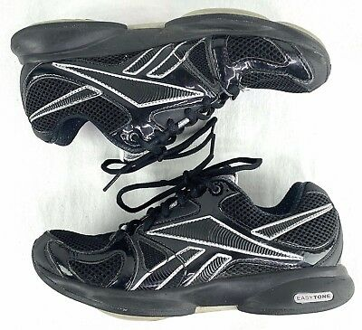 c837713f7cc99a REEBOK EASYTONE Black-Silver Athletic Sneakers Toning Shoes Womens Size 6.5  h2