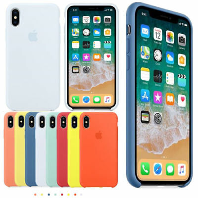 Original Soft Silicone Case For Apple iPhone X/XS /XS Mas/XR /5/6/7/8 Cover Case
