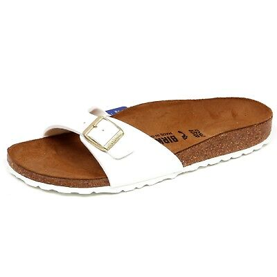 F2960 sandalo donna white BIRKENSTOCK MADRID eco patent shoe woman NARROW  FIT 07a178b56b3