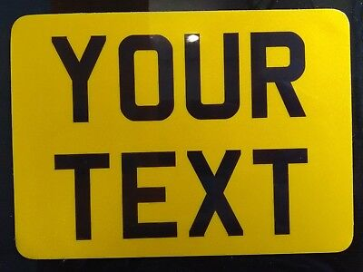 """8"""" x 6"""" Novelty Motorcycle Motorbike Number Plate Free 1st Class Post!"""