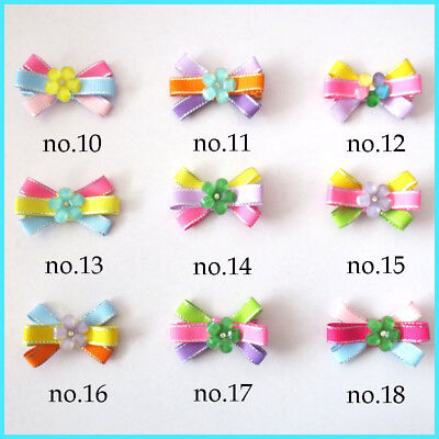 """50 BLESSING Good Girl 2.5"""" Flower Hair Bow Clip Baby Accessories Wholesale"""