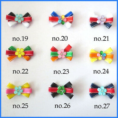 """100 BLESSING Good Girl 2.5"""" Flower Hair Bow Clip Baby Accessories Wholesale"""
