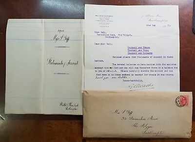 1911 Letters to Miss Goff, 35 Devonshire Road, The Polygon, Southampton