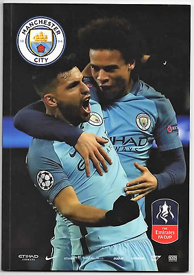 2017-Manchester-Man City V Huddersfield Town-1/3/17-Fa Cup 5Th Round Rep Program