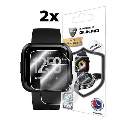 IPG Invisible Guard Wet Defense Fitbit Smartwatch Screen Protector 2x--NEW