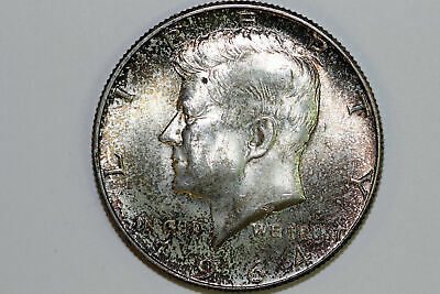 Grades Mint State 1964 P Toned Kennedy 90% Silver Half Dollar (KHX501)