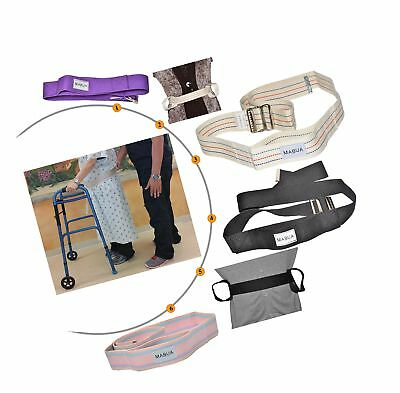 Physical Therapy Gait Belt with Metal Buckle (pink), 60 Pink 60 inches
