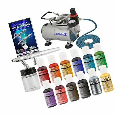 Master Airbrush Cake Decorating Airbrushing System Kit With A Set Of