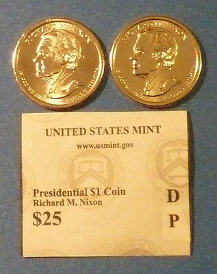 2016 D & P Richard M Nixon US Presidential Coin Set UNCIRCULATED