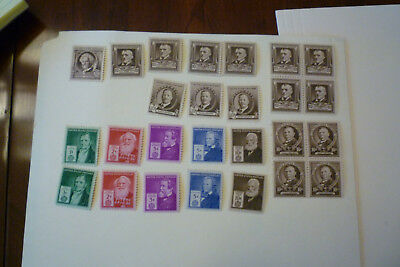 US 1940 Famous American Stamps MNH  26 stamps Scott value $ 55+ duplicates