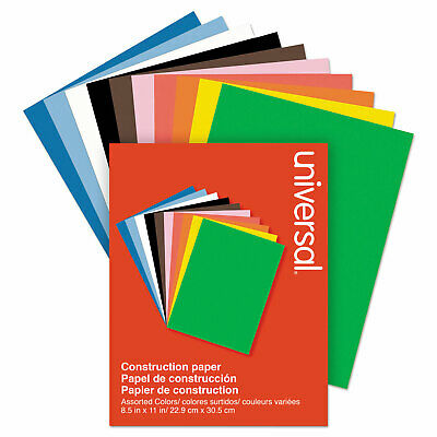 "Universal Construction Paper 76 lb 9"" x 12"" Assorted 200 Sheets/Ream 20900"