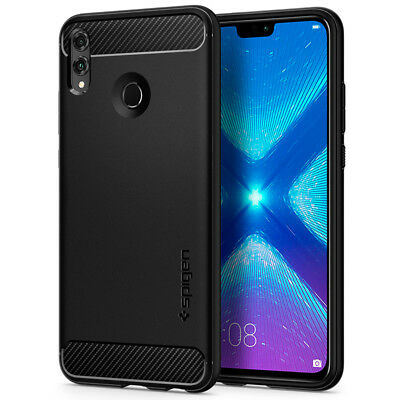 Huawei Honor 8X/View 10 Lite Spigen® [Rugged Armor] Black Protective Cover Case