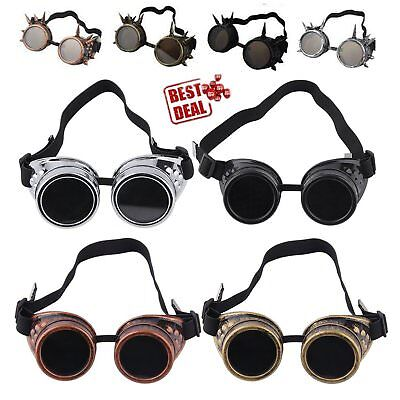 Cyber Goggles Steampunk Glasses Vintage Welding Punk Gothic Victorian LOT BC