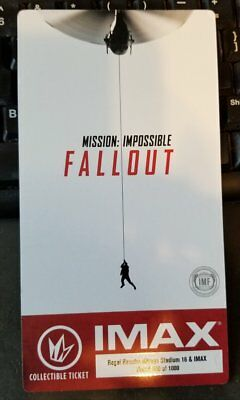 Mission: Impossible Fallout IMAX Collectible Movie Ticket Regal Cinemas