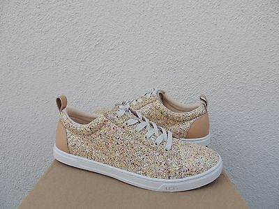 fa70b3f6af6 UGG KARINE SILVER Multi Chunky Glitter Lace-Up Sneakers, Us 6/ Eur ...