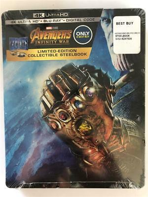 Avengers Infinity War Limited Edition Collectible Steelbook 4K Ultra HD Blu Ray