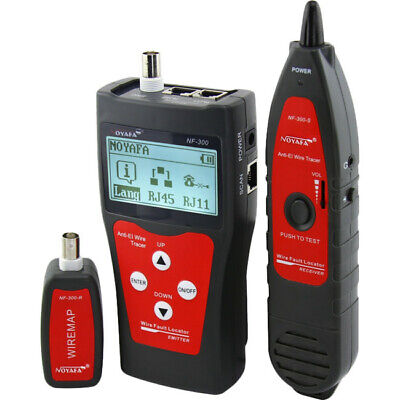NF300 DOSS Network Coax Cable Tester Flashing Port Function Rj45, Rj11, USB and