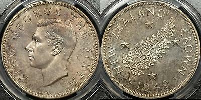 New Zealand 1949 Royal Visit Crown PCGS MS65 Gem Uncirculated