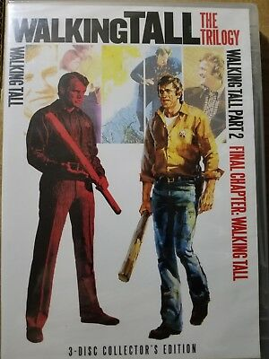 Walking Tall - The Trilogy DVD Box Set Parts 1, 2, & Final Chapter (New CD)