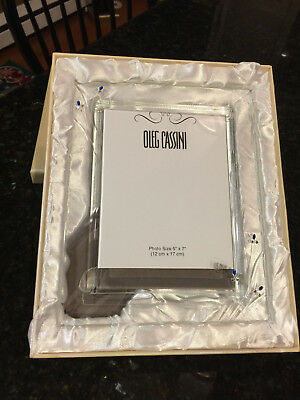 Oleg Cassini 95h Fine Crystal Photo Frame Boxed Shopgoodwillcom