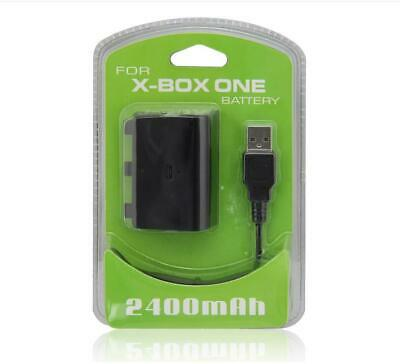 For Xbox One S X Controller Play Charging Cable + 2400mAh Battery Pack