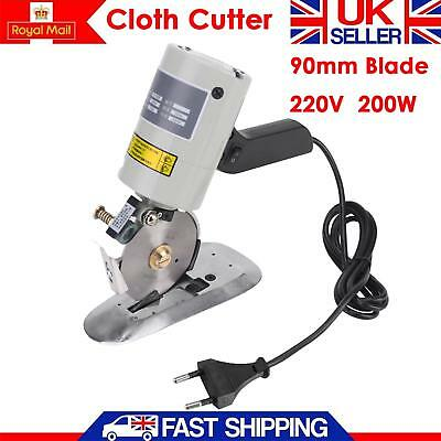 Electric Knife Cloth Fabric Cutting Machine – Cloth Leather Cutter 90mm 200W UK