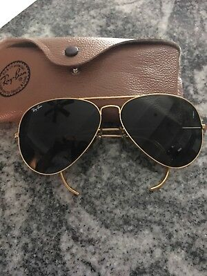 bb1bf9a7fed MEN S Large VINTAGE RAY BAN AVIATOR B L SUNGLASSES WITH CASE GOOD CONDITION