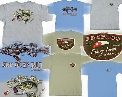 af436fe9 3 Old Guys Rule Fishing Themed T-Shirts Size M You Get All Three!