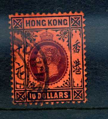 Hong Kong 1912 $10 fine used strong colour