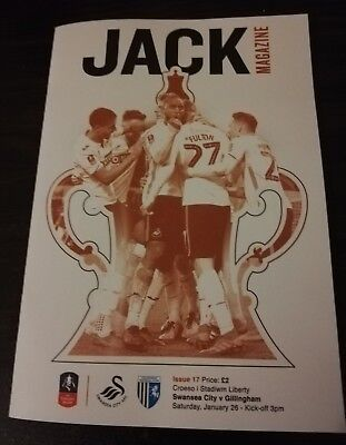 Swansea City v Gillingham programme, FA Cup 4th Round, 26th January 2019