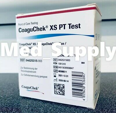 New Sealed 09/30/2020 Roche Coagucheck Coaguchek Xs Pt/Inr Test Strips 24/Bx !!!