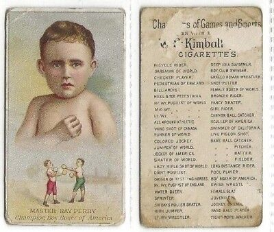 1887 N184 Kimball Master Ray Perry Champion Boy Boxer of America