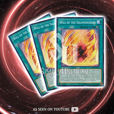 WILL OF THE SALAMANGREAT x3   Common   SOFU-EN053 Soul Fusion YuGiOh