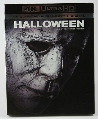 Halloween (2018) 4K Ultra HD + Blu-ray + Digital BRAND NEW Slipcover Horror HDR