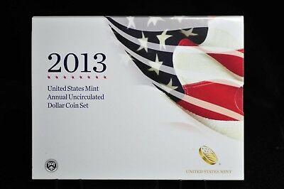 2013-W U.S. Mint Annual Uncirculated Dollar Coin Set w/Silver Eagle OGP [01DUD]