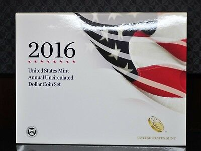 2016-W U.S. Mint Annual Uncirculated Dollar Coin Set w/Silver Eagle OGP [01DUD]