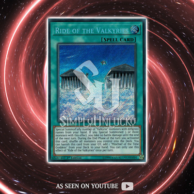 RIDE OF THE VALKYRIES | Secret Rare | SHVA-EN006 Shadows In Valhalla YuGiOh