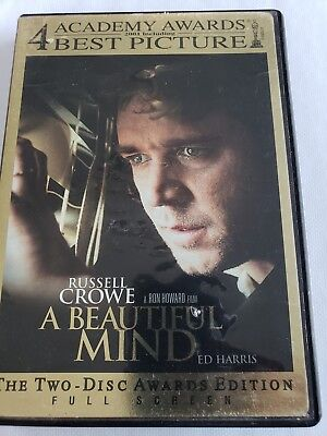 A Beautiful Mind (DVD, 2002, 2-Disc Awards Edition full screen)