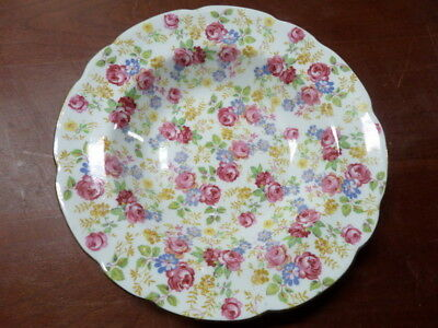 "4) RARE Shabby Cottage Chic Royal Stafford June Roses Chintz 8 1/2""  Bowls"